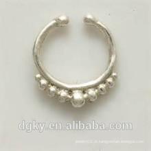 Septo de prata para não perfuradas nariz nariz jóias indian nariz anel