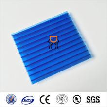 Folha oco de policarbonato de 4mm com certificação de ISO, CE, UL, SGS, 7colors para escolher
