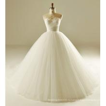 Классическая Складка Перо Лиф Свадебные Платья