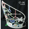 New designs rhinestone royal accessories wholesale tiara and Christmas crown