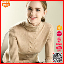 2017 New women's cashmere turtleneck pullover camel cashmere sweater