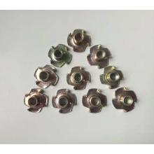 Yellow zinc plated machine lock nuts
