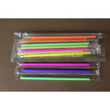 Пользовательские одноразовые индивидуально упакованные гибкие пластиковые соломинки