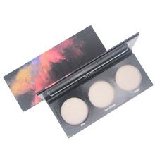Caja de papel cosmética de paleta de polvo esmaltada de belleza