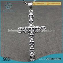 Venda Por Atacado maltês alta qualidade cruz prata om pingente