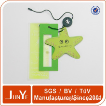 Cute paper hang tag famous brands for jeans