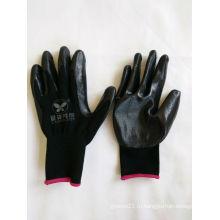 13G полиэфирные оболочки с покрытием из нитрила Защитные перчатки (N6002)
