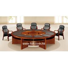 Mesa de conferencia redonda de madera grande Mesa de conferencia Muebles de oficina clásicos (FOHSC-3006)