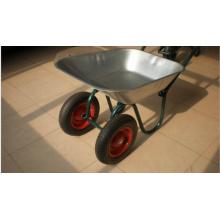 Deux roues / brouette avec plateau galvanisé Wb6410