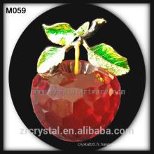 nouveau cristal de pomme de cristal cadeau de Noël