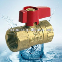 brass natural gas reducing ball valves with standard port