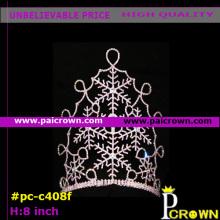 White Snowflake Pageant Tiara Crown