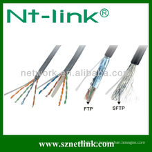 24AWG UTP Cat5e sólido cable retráctil Lan