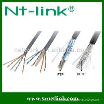 Sólido 8 pares barato cat5e cabo de ftp lan