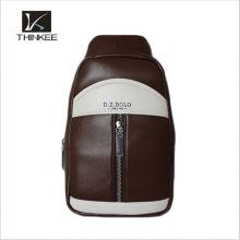 bolso de pecho de cuero elegante de la lona del estilo para los hombres