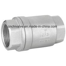 Válvula de retenção de aço inoxidável carregada com mola