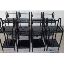 Black Painted Stamping and Welding Trolley for Beauty Apparatus Parts