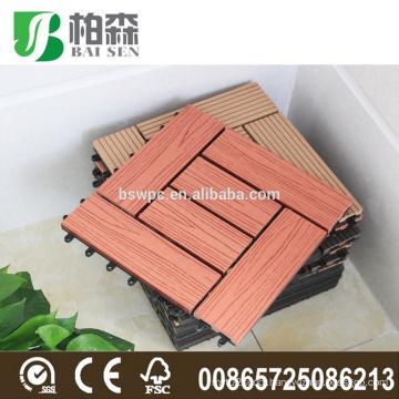 cheap non-slip wpc interlocking outdoor plastic deck tiles