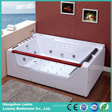 Baignoire de massage acrylique double rectangle de 2016 la plus récente (TLP-676)