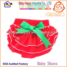 Wholesale red satin plain bloomer for baby