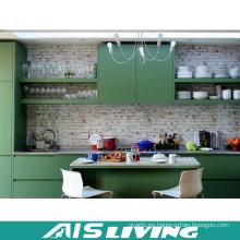 Muebles del gabinete de cocina del verde del estilo de Europa del malamine (AIS-K336)