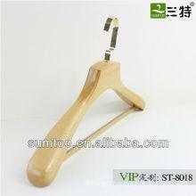 SUMTOO 8081 VIP gold hook square bar bulk wooden hangers for gentlemen