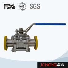 Vanne à bille à deux voies en acier inoxydable en acier inoxydable (JN-BLV2001)