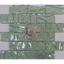 Low Temperature Processed Glass Brick Mosaic Tile (CFC282)