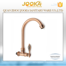 Wall mounted single lever cold water classical red bronze kitchen sink tap