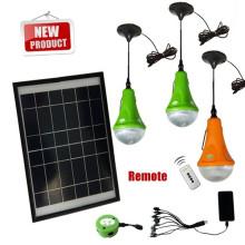 1/2/3 led Birne kann chosed nach Hause Solarleuchte mit USB-Ladegerät und Griffe