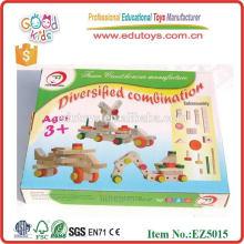 EZ5015 Hardwood Nut Screw Wooden Combination Toy for kids