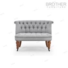 Muebles de lujo hogar 2 plazas sofá hotel decorativos silla decorativa con cojín de tela