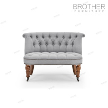 Роскошные дома мебели 2 спальный диван отель декоративный акцент стул с валиком ткани