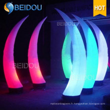 Décoration Cones gonflables Ivory Tusk LED Column Arch Tube