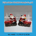 Wholesale ceramic soup spoon in snowman shape for christmas holiday