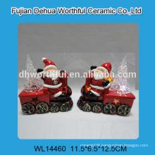 Superior quality ceramic santa claus ornament for led light
