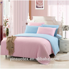 High quality queen king bedding sets solid color brushed fabric quilt set
