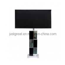 2012 Square Mirror Indoor Table Lamp with Cotton Shade for House (JG-TL077)