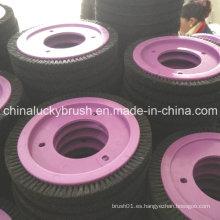 Cepillo redondo de cerdas negras puras para la máquina textil de LK (YY-423)