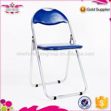 Venda por atacado Qingdao Sinofur barato OEM mobiliário de exterior metal / madeira / plástico cadeira dobrável para hotel