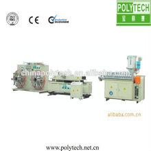 corrugado de pared singal 2014 tubería extrusión línea/PE PA PP plástico corrugado extrusión tubería