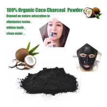 Kokosnuss-Shell-Holzkohlen-Pulver des Nahrungsmittelgrades für kosmetische Gesichtsmaske-Zusatz