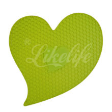 Flexible Silicone Kitchenware Water Resistant Mat Silicone Pot Mat With Debossed / Embossed Logo