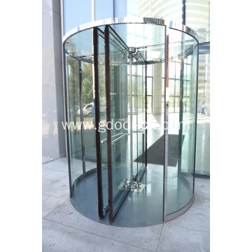 Crystal Three Wing Automatic Revolving Door