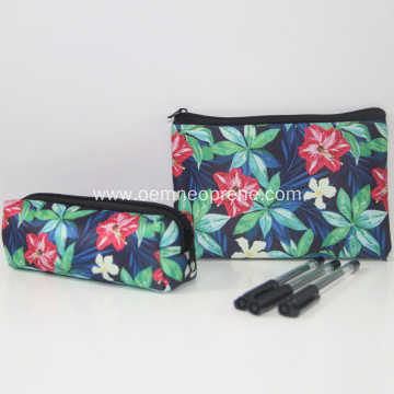 Flower pattern drawing pencil cases for adults
