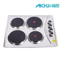 Cuisinière électrique de table de cuisson brossée en acier inoxydable 201, 6000 W