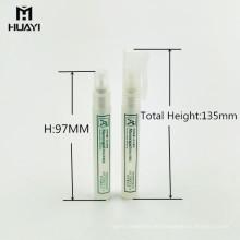 maßgeschneiderte 5 ml 8 ml 10 ml kosmetische nachfüllbare kunststoff parfüm stift sprühflasche