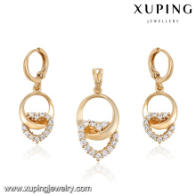 63990 2016 alibaba women's 18k gold zircon stone costume jewelry set