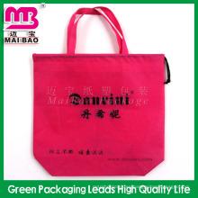 Uso de ultramarinos reciclable gsm personalizado AZO libre bolsa de tela no tejida pp bolso