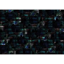 Черный печатных одежды купальники ткани (ASQ069)